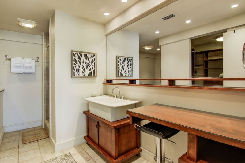 Nothing is Standard! Master Bath.