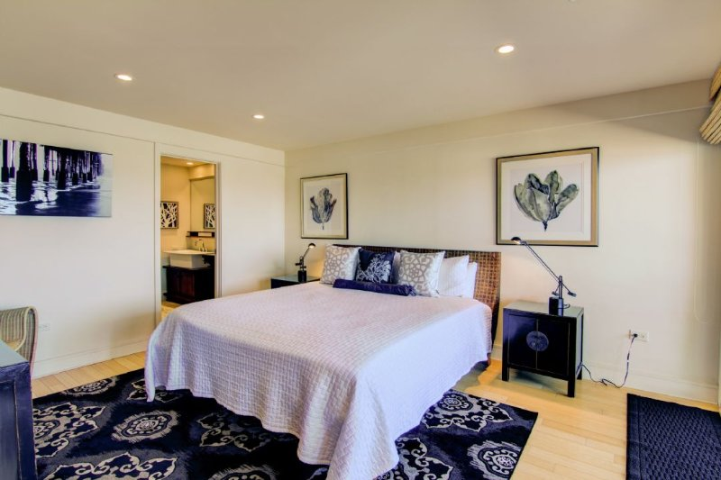 Master Bedroom Featuring King Bed and View!