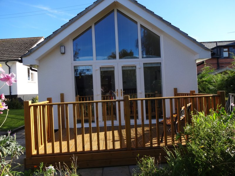 Enjoy the sunshine from the decking.You may even see Buzzards circling over head !