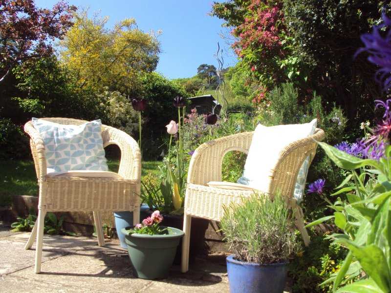 A sunny spot in the beautiful garden