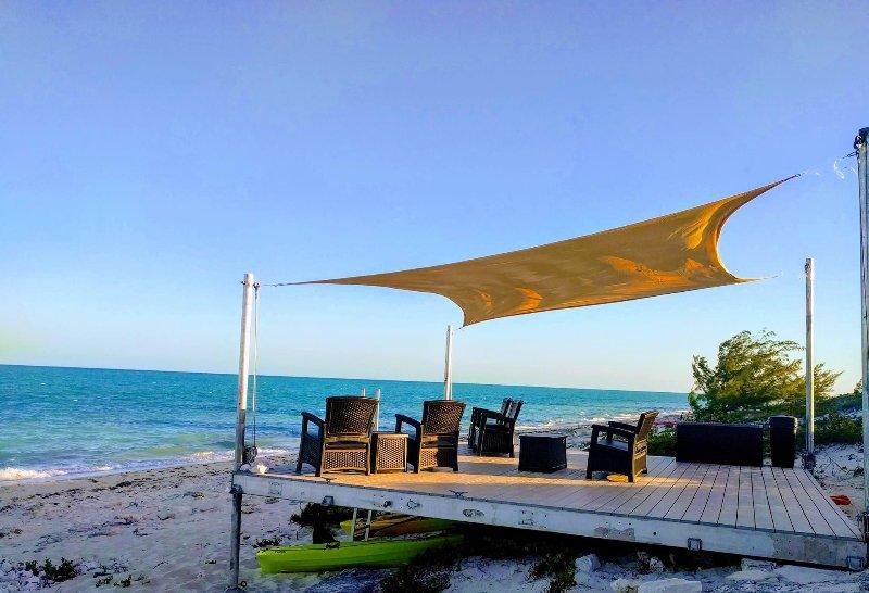 our new beach deck
