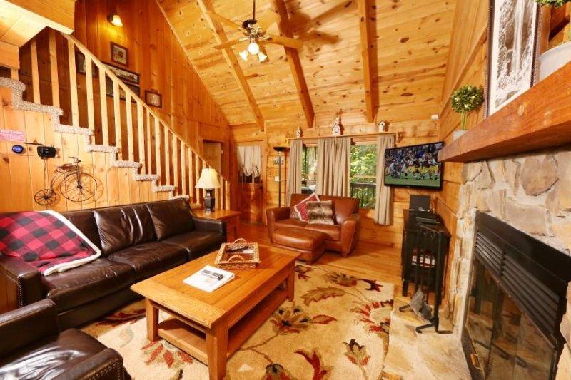 Accogliente soggiorno con Camino a legna