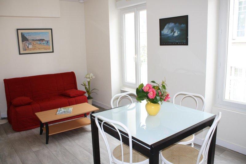 Appartement 2 pièces, rénové, centre ville, proche plage, location de vacances à Granville