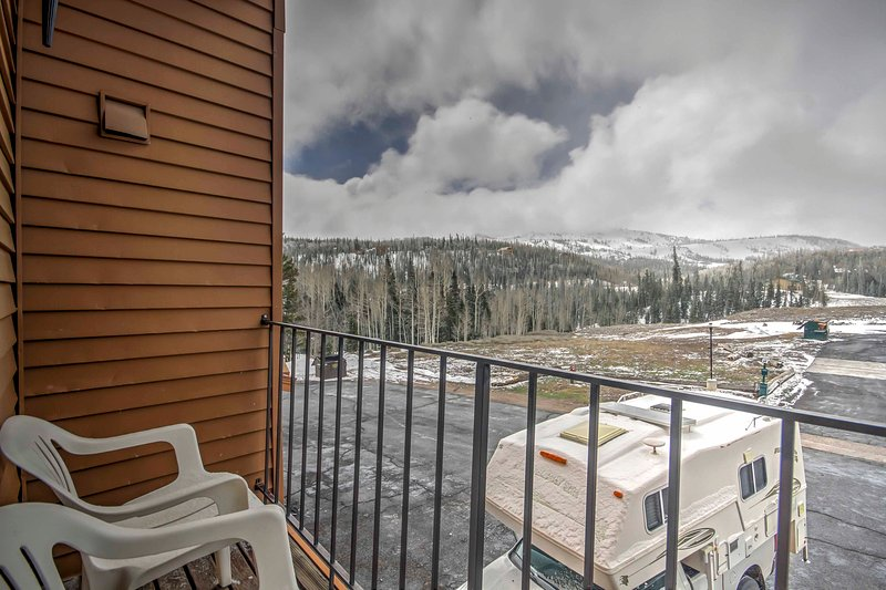 Get some fresh air and enjoy scenic views from your balcony.