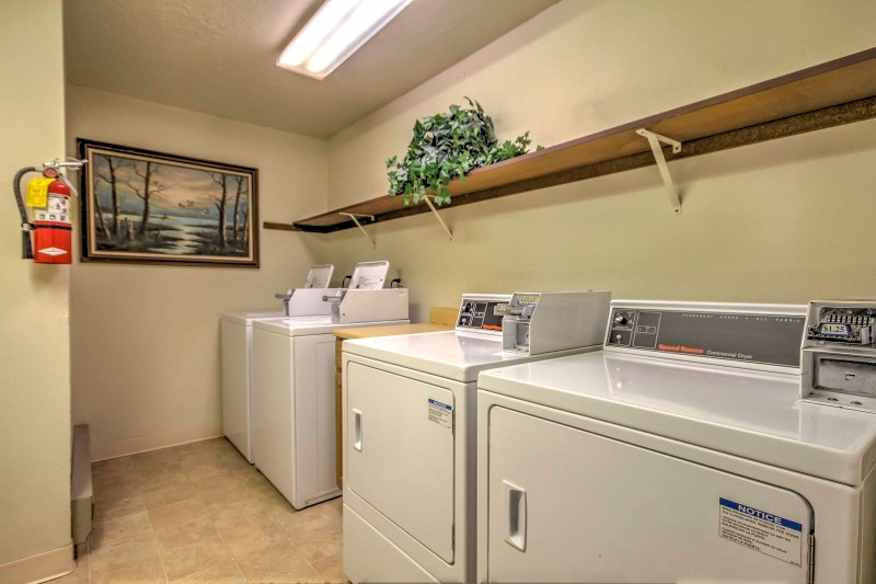 On-site laundry machines are available for your convenience.