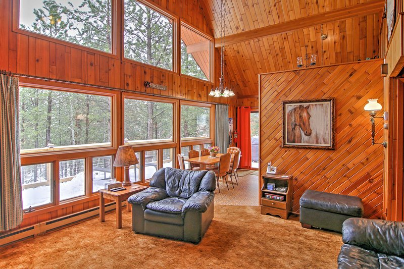 Experience The Black Hills like never before from this 3-bedroom, 2-bath vacation rental cabin that comfortably sleeps 12!