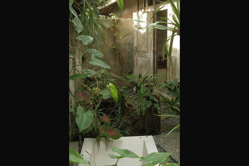 Salle de bains en plein air
