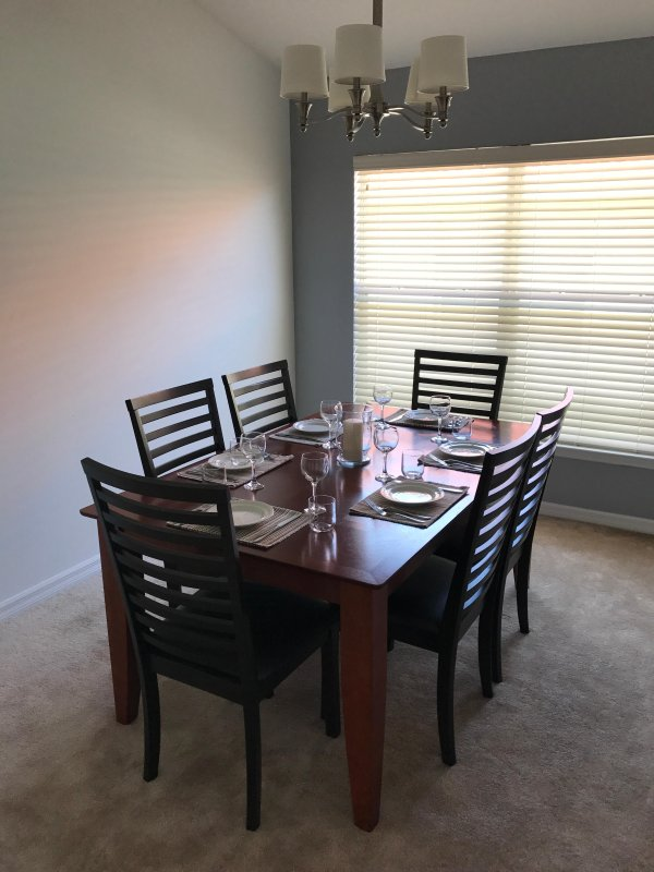 Dine in style in the formal dining room