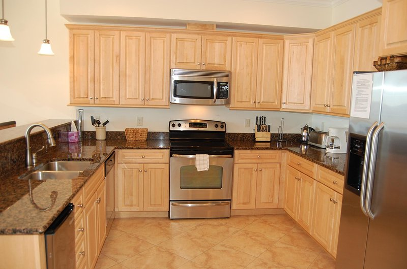 Kitchen with granite counter-tops