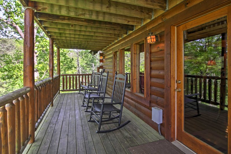 Soak up the tranquil environment from the rocking chairs on the balcony.