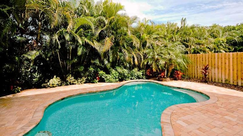 Tropically Landscaped Heated Pool