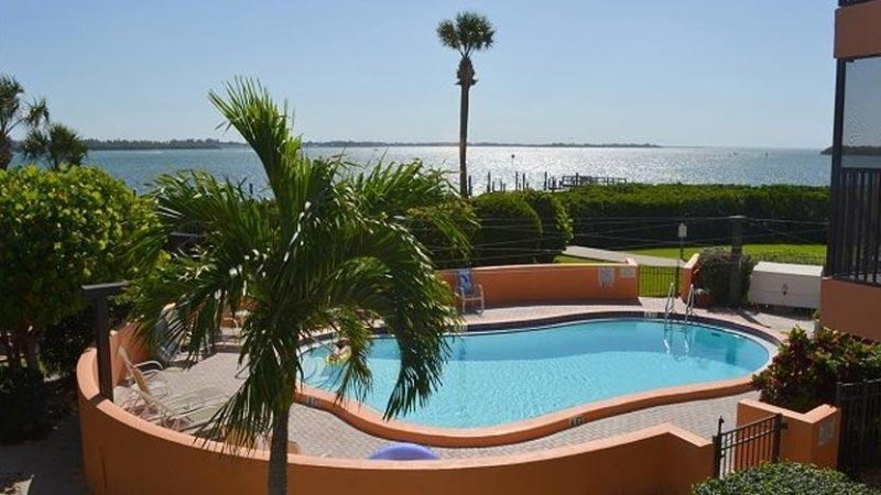 Pool has View of Sarasota Bay