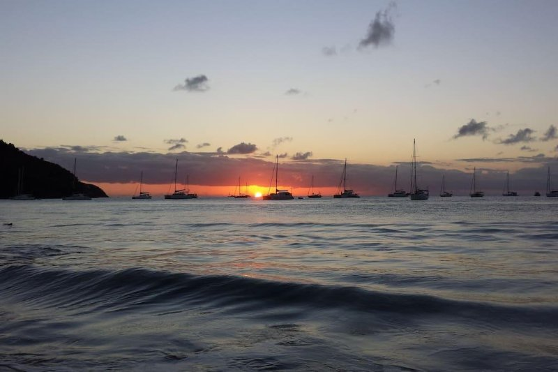 A beautiful sunset in Rodney Bay, St Lucia.