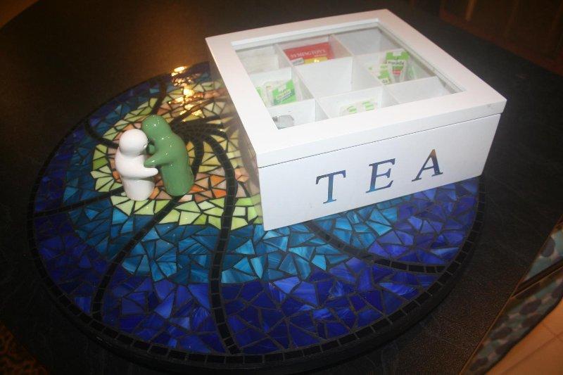 sélection de thés organiques, et moulu