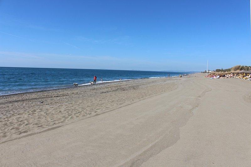 The saladillo Beach. 1 min walking