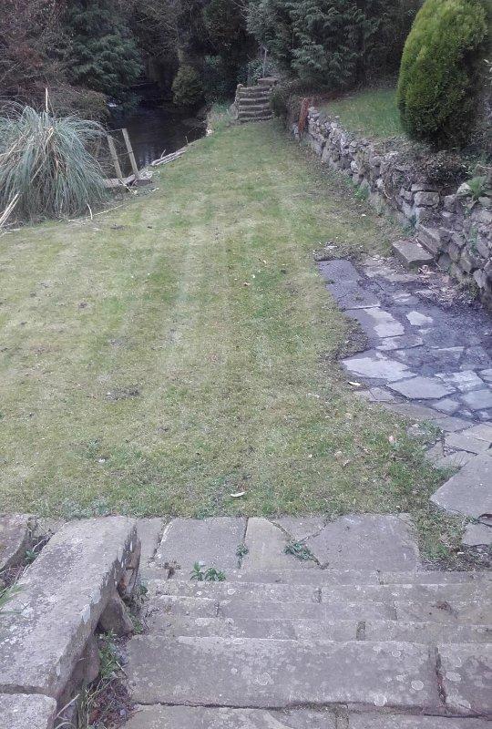 Schritte zum Garten