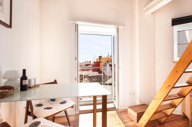 fransk balkong med utsikt
