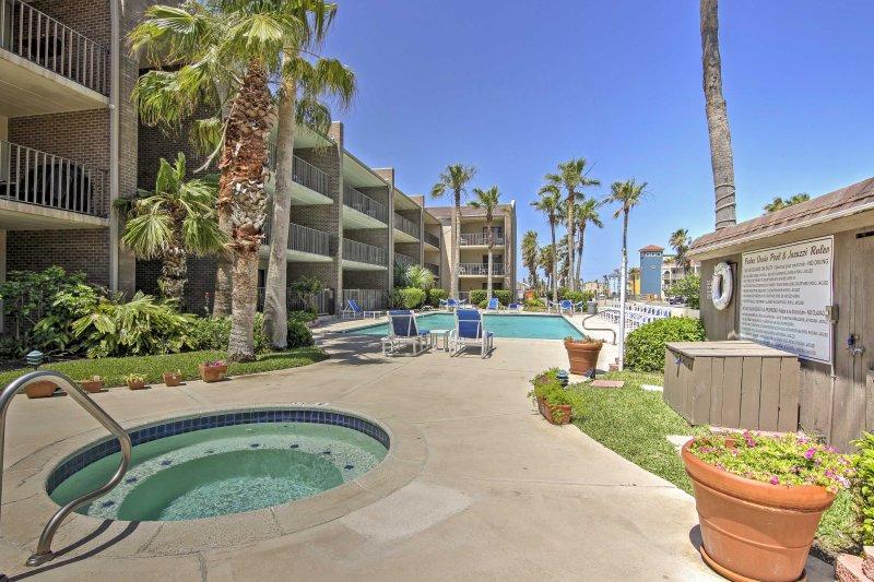 A revitalizing beach retreat awaits you at this 2-bedroom, 2-bathroom condo.