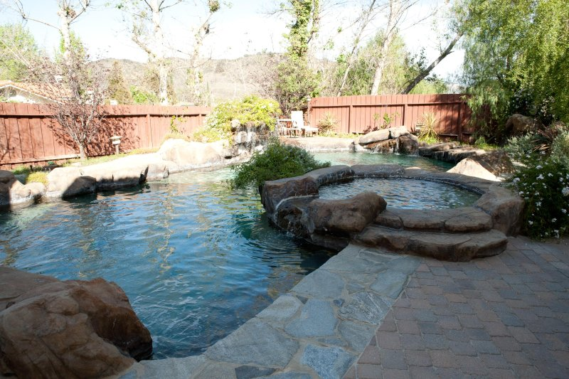 Exotic Rock Grotto multiple waterfall pool