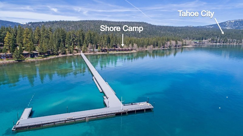 Short walk to Tahoe's largest pier, private to Tahoe Tavern. Tahoe City 1 mile.