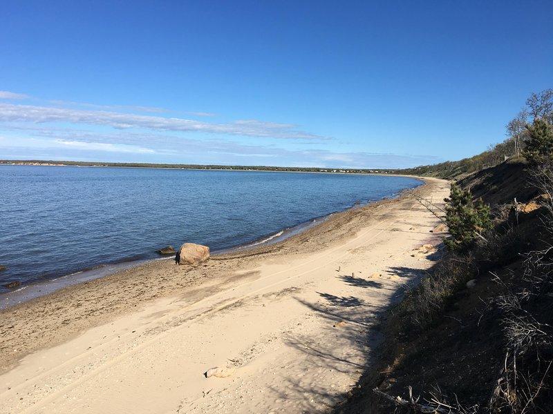 Playa privada bahía cercana