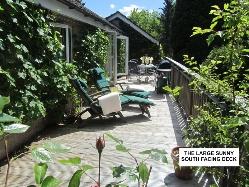 The Deck at Rough Pastures, Holiday Apartment in Monmouthshire - South Wales, holiday rental in Llandogo