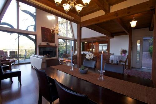 Main level is open to front patio entrance and large deck - Views!