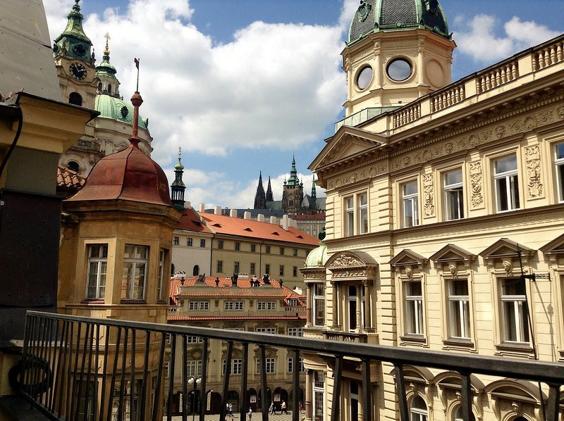 View Of The Castle From The Second Balcony, On The Right Is Charles Bridge