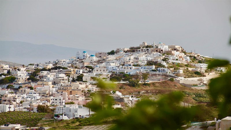 View of Pyrgos (from winery road just outside Pyrgos village )