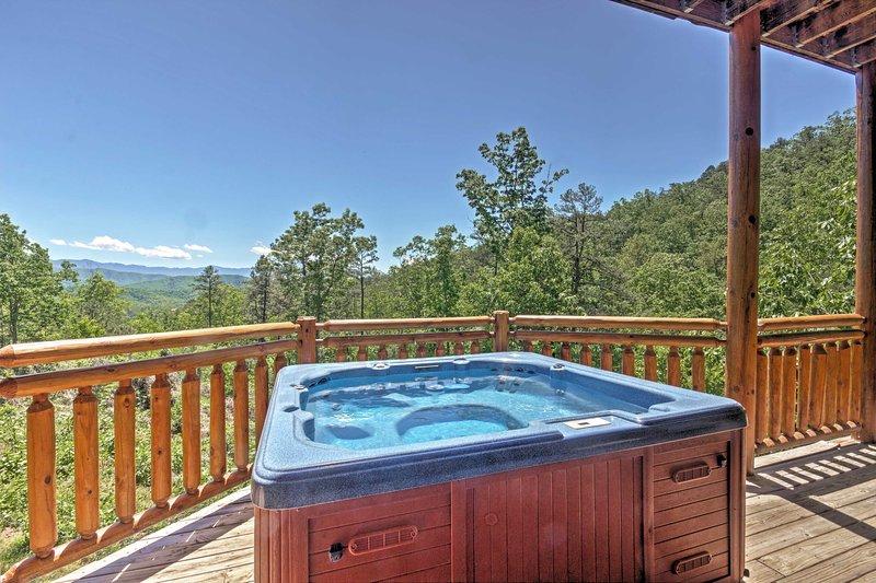 Une vue imprenable sur les montagnes peut être vue de toutes les parties de cette maison.