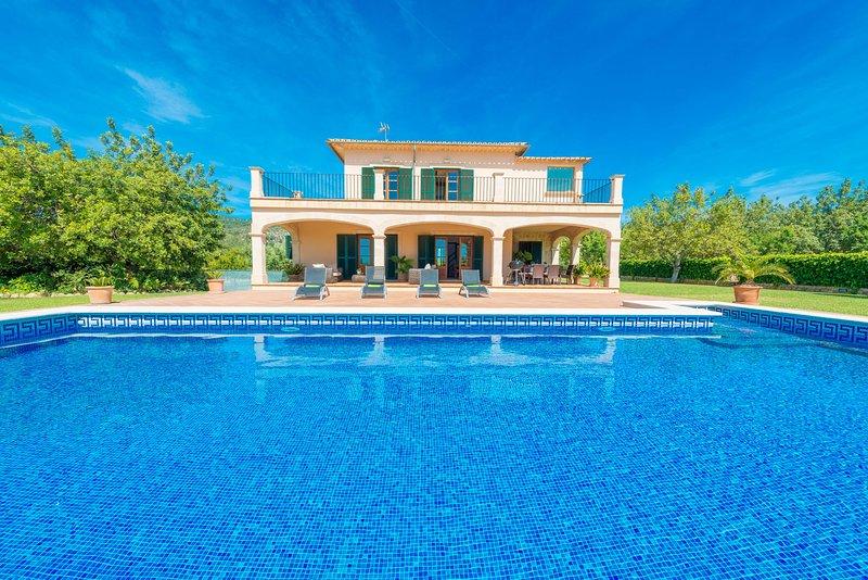 CAN BIELET - Villa for 8 people in Binissalem, vacation rental in Binissalem