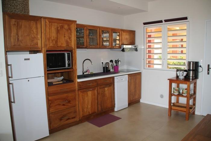 Fully equipped kitchen teak appliances Class A