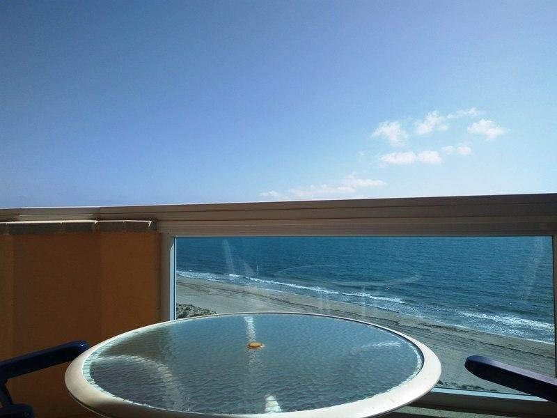 You wake up to crystal clear blue Mediterranean Sea