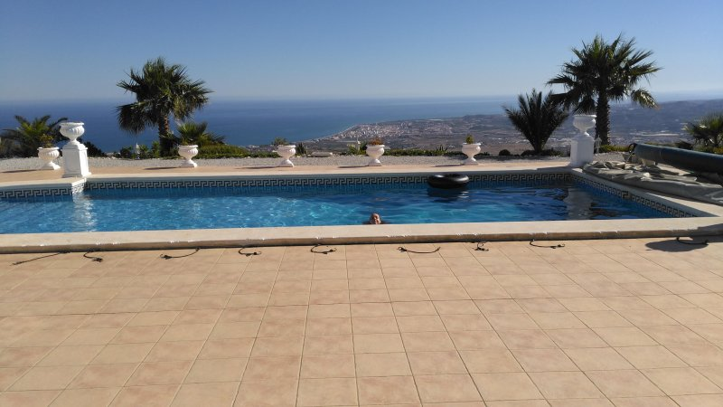 Pool and sea from villa