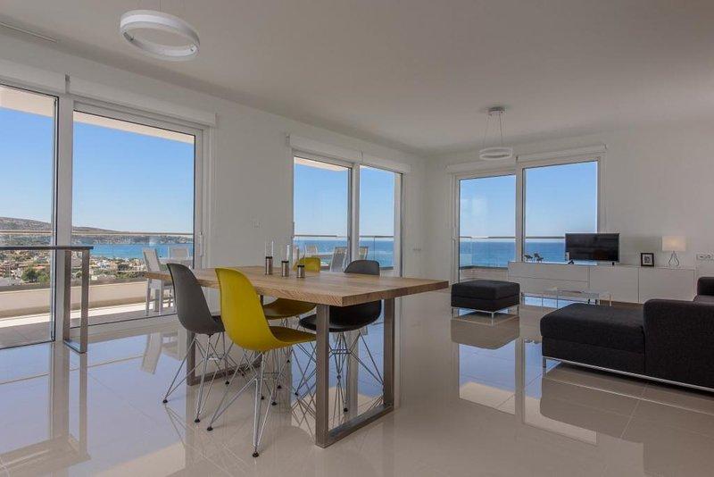 Villa Delfini 3, vue sur la mer magnifique, Southcoast, Crète, 2 Chambre de luxe Villa, SAT-TV, W-LAN,