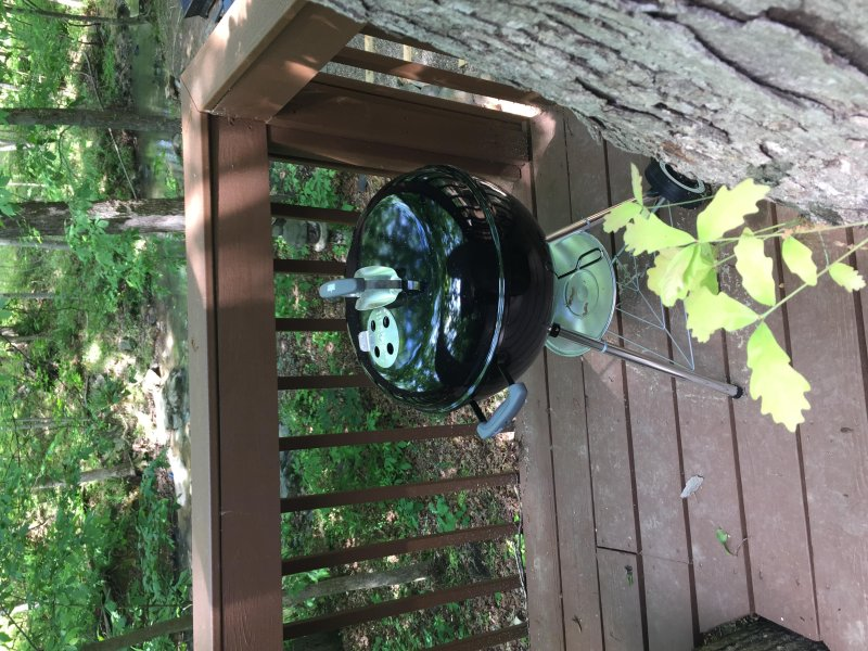 Enjoy the grill on the lower deck overlooking the creek with seating for 10
