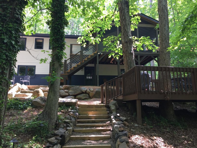 Backside of the house and lower deck