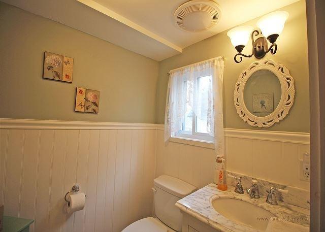 Second floor half bath