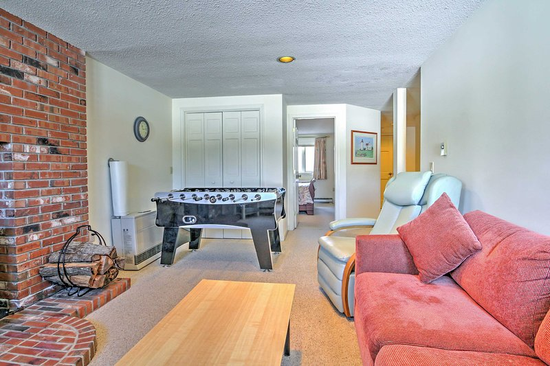 This second family room offers even more privacy from this couples' retreat!