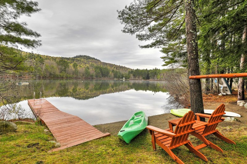 Explore the surrounding wildlife and launch a kayak excursion from your private dock!