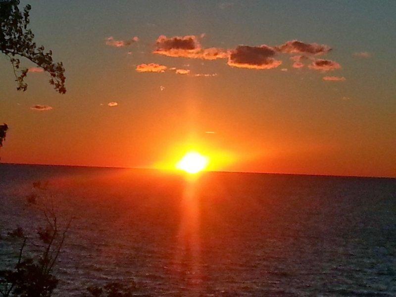 vista del tramonto