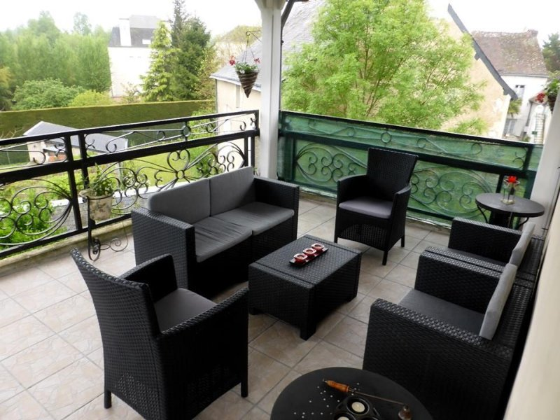 Raised Terrace at  Les Balcons vacation rental in Le Grand-Pressigny in the Loire Valley France