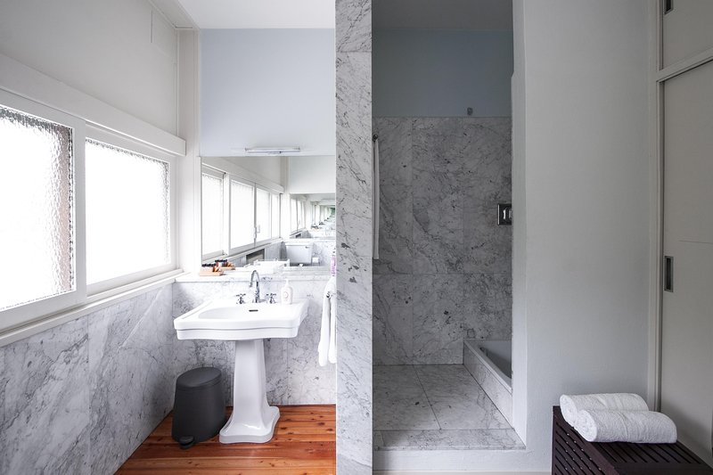 Los baños de mármol.
