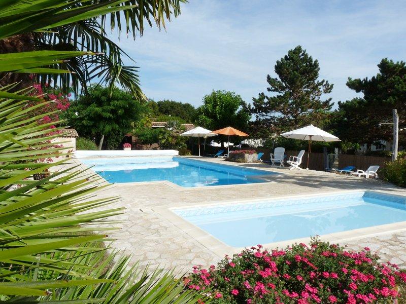 heated pool and wading pool