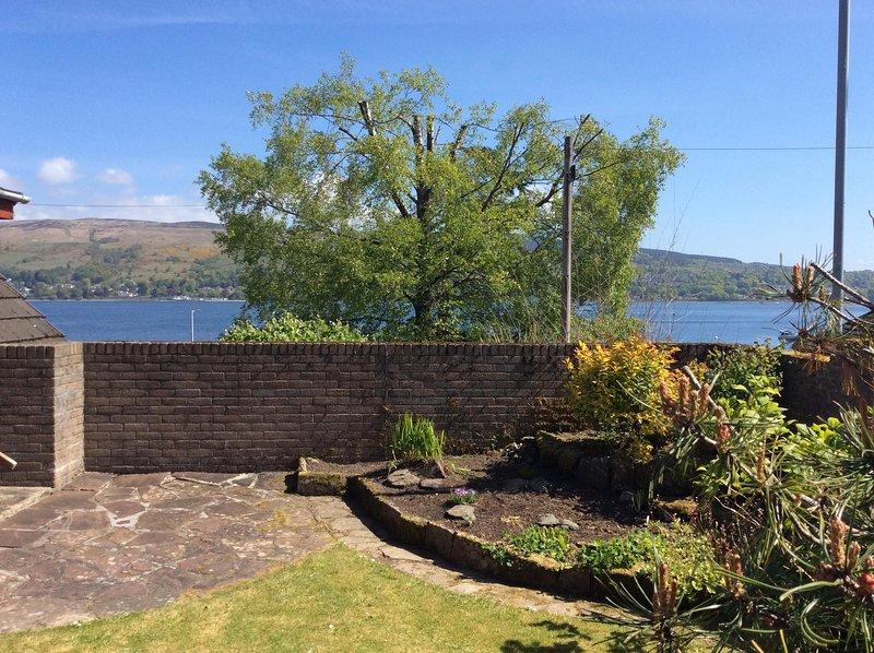 Garden, looking across the loch