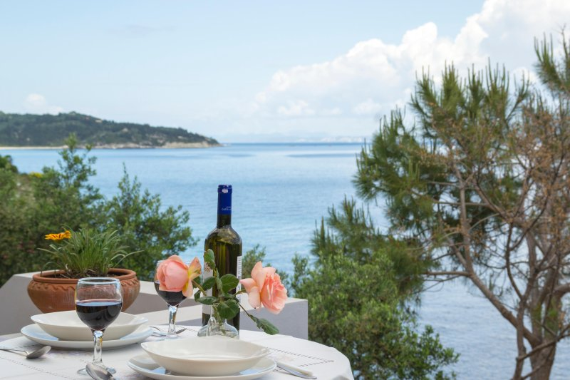 Paxos Sunrise Villas studio next to the sea, holiday rental in Gaios