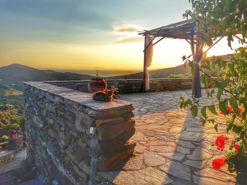 Villa Kotseli: Eco Friendly Island House, holiday rental in Andros