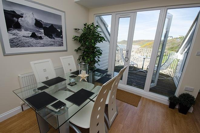 Dining room with the best view in Woolacombe