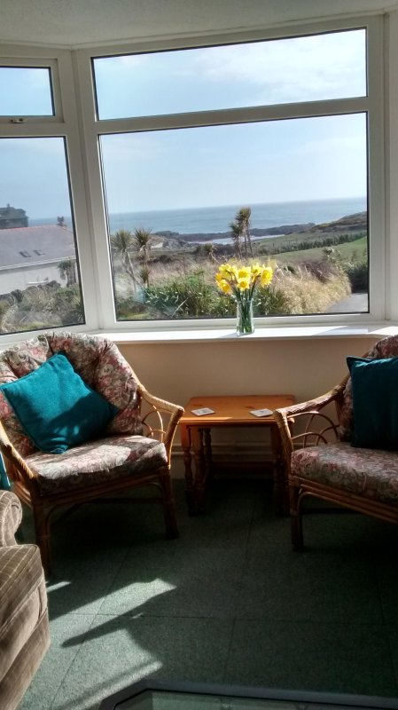 Stunning coastal views from lounge and master-bedroom.