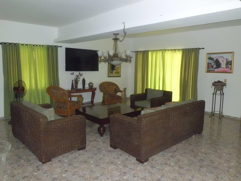 living room w/65'HD